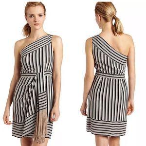 BCBGMAXAZRIA Stevie Sheath Dress One Shoulder M